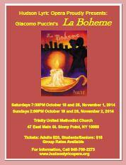 mini image of La Boheme opera flyer