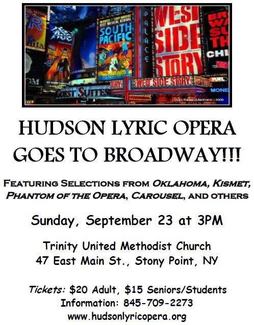 Hudson Lyric Opera (HLO) goes to Broadway picture
