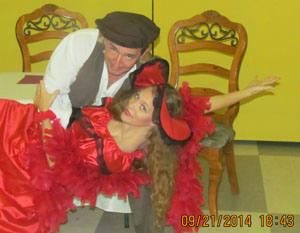 La Boheme Rehearsal photo of Andy and Laura