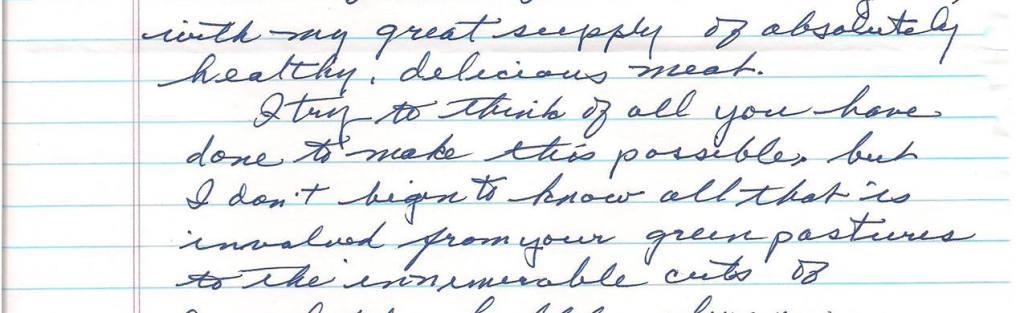 Fran's letter of encouragement