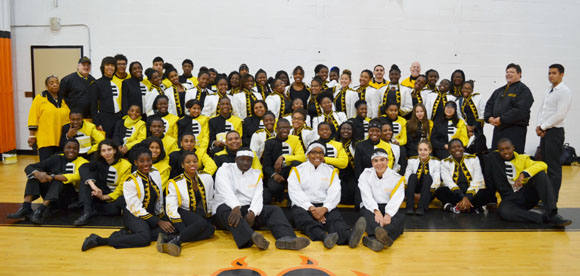 Group Picture of East Ramapo Marching Band, Nov. 1, 2014