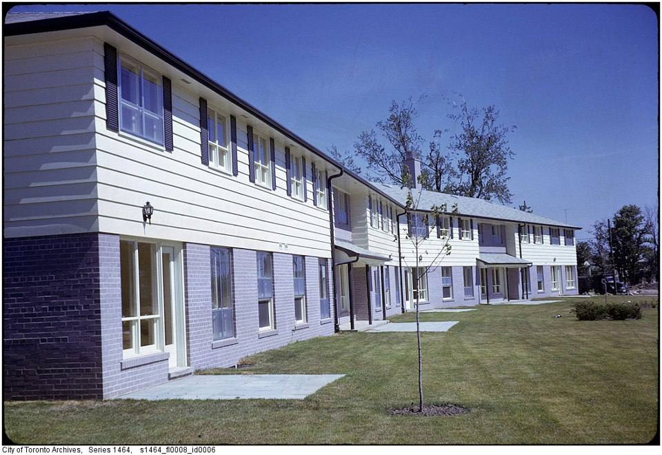 Downsview AirForce Base housing Keele Sheppard 1962.jpg